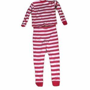Kid's Leveret Red Striped Pajama Set